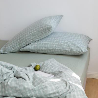 2020春夏新品水洗棉基础款2.0系列 标准床单款 zakka绿