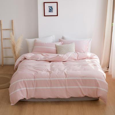 2020春夏新品水洗棉基础款2.0系列 标准床单款 粉梨