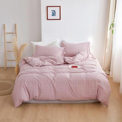 2020春夏新品水洗棉基础款2.0系列 标准床单款 zakka粉