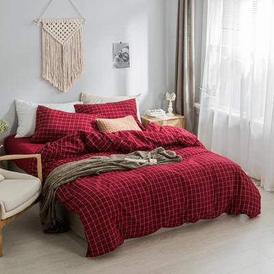 水洗棉基础款多规格四件套 小小号床单款(0.9-1.2米床) 盛夏格