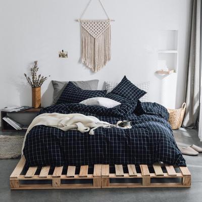 水洗棉基础款多规格四件套 小小号床单款(0.9-1.2米床) 暖冬格