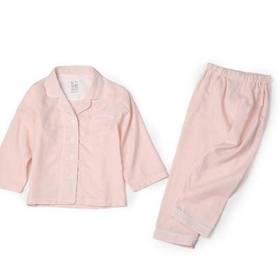 双层纱儿童家居服 100 纯粉色