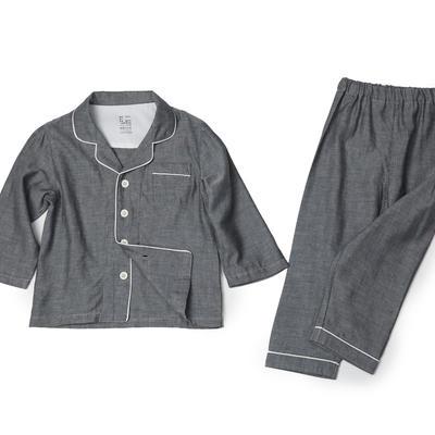 双层纱儿童家居服 100 纯灰色