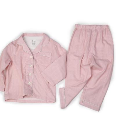 双层纱儿童家居服 100 粉色波点