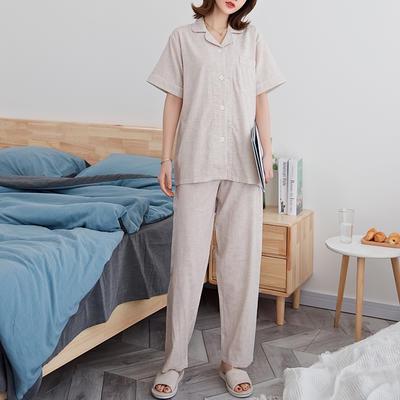 2020新款-家居服短袖 m 奶茶纯色 女款短袖