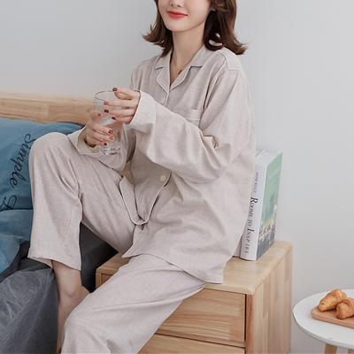 2020新款-家居服长袖 x 奶茶纯色 女款长袖