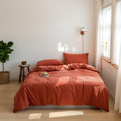 2021 新增纯色水洗棉基础款 1.5m床单款 枫叶红