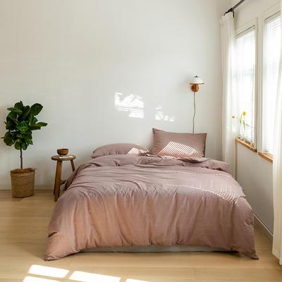 2021 新增纯色水洗棉基础款 1.5m床单款 豆沙
