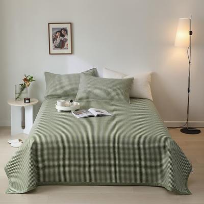 2021新款-日式竹纤维软席 70*120cm 绿小格