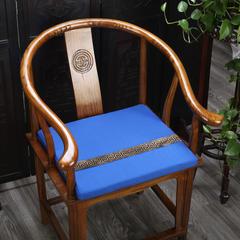 雷晓家居中式棉麻加条系列坐垫 50CM*40CM*4CM 蓝色
