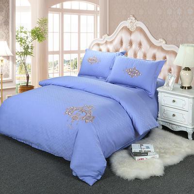 60S欧式提花刺绣全棉四件套 200*230 欧利西斯-紫罗兰