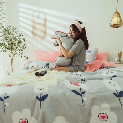 2019新款保暖魔暖绒(全棉磨毛+水晶绒)床单款 1.8m床笠 春天里