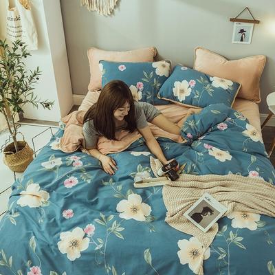 2019新款保暖魔暖绒(全棉磨毛+水晶绒)床单款 1.8m床笠 沐春-兰