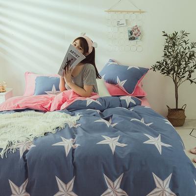 2019新款保暖魔暖绒(全棉磨毛+水晶绒)床单款 1.8m床笠 永恒星光