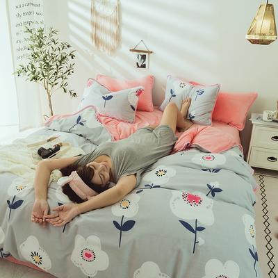 2019新款保暖魔暖绒(全棉磨毛+水晶绒) 1.2m(4英尺)床 春天里