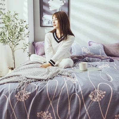 2019新款保暖魔暖绒(全棉磨毛+水晶绒) 1.2m(4英尺)床 富贵花开