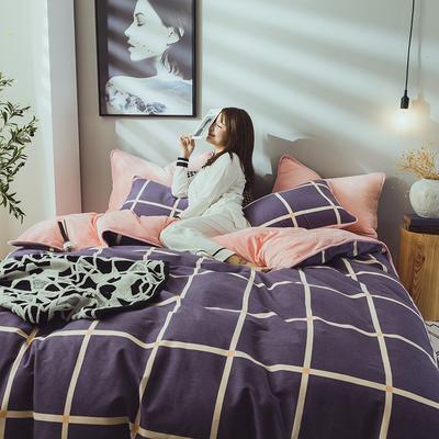 2019新款保暖魔暖绒(全棉磨毛+水晶绒) 1.2m(4英尺)床 夜光之旅