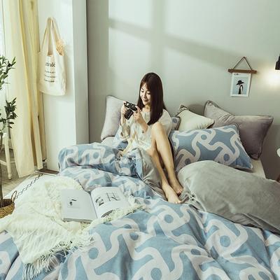 2019新款保暖魔暖绒(全棉磨毛+水晶绒) 1.2m(4英尺)床 悠然