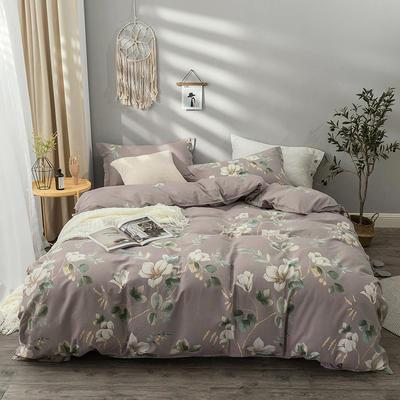 2019新款纯棉生态磨毛四件套 1.8m床单款四件套 温暖的弦-咖