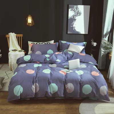 2019新款40S全棉活性生态磨毛单品被套款 160x210cm 圆梦-紫