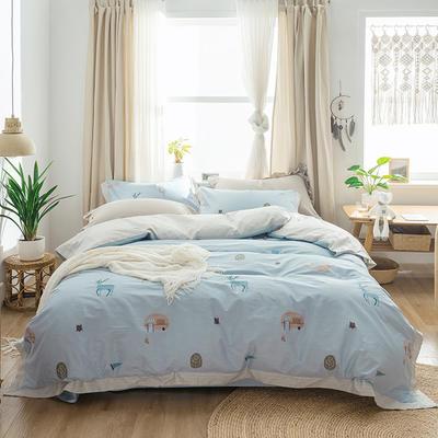 2019新款轻奢宽边全棉四件套 1.2m/1.2m以下床单款三件套 玛可莎