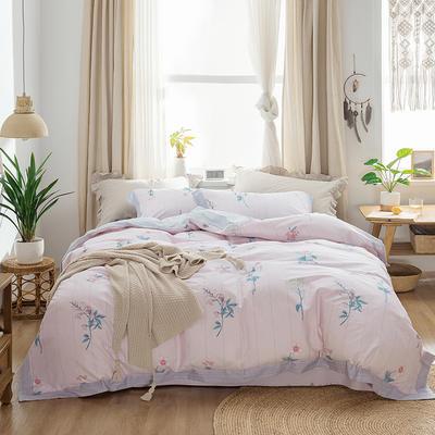2019新款轻奢宽边全棉四件套 1.2m/1.2m以下床单款三件套 暖暖