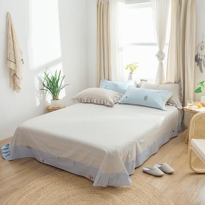 2019新款2019新款轻奢宽边全棉单床单 180cmx230cm 玛可莎