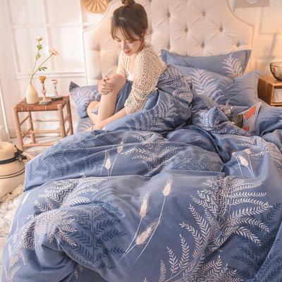 2019新款全棉生态磨毛单被套款 220x240cm 静若繁花
