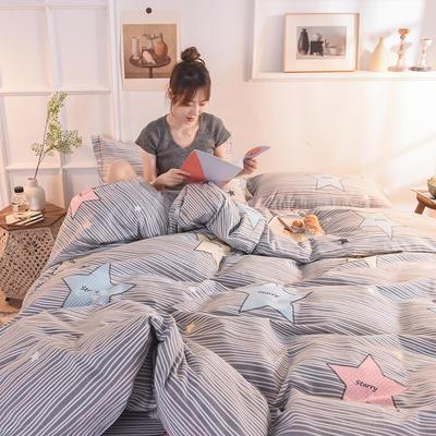 2019新款全棉生态磨毛单被套款 160x210cm 闪亮星语