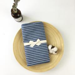 水洗棉枕套一对19 48cmX74cm 蓝细条