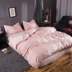 无印良品 天鹅绒四件套 1.2米床单款 粉色