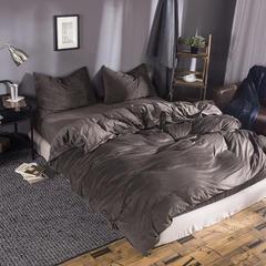 无印良品 天鹅绒四件套 1.2米床单款 深咖色