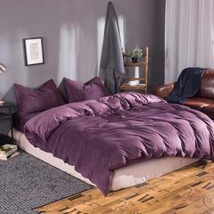 无印良品 天鹅绒四件套 1.2米床单款 紫色
