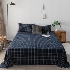 2018新款-全棉色织水洗棉单床单 245*250cm 暖冬