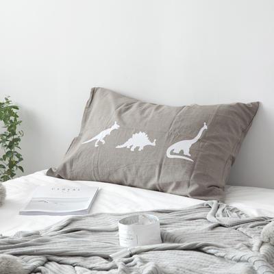 2019新款治愈系单品枕套 48cmX74cm 恐龙纹