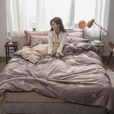 2019新款-色织水洗纱布大提花四件套 1.8m(6英尺)床 阿黛尔