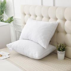 夏冬 全棉绗缝立体羽丝绒枕芯 三线格枕芯 南极人同款