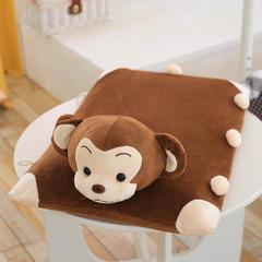 14款乳胶枕(60*40cm) 棕色小猴