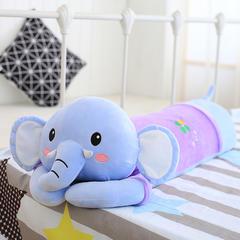 四色乳胶枕(70*20cm) 蓝色趴象