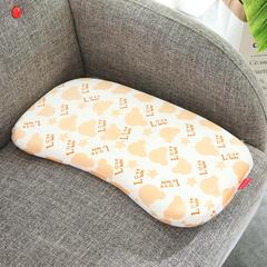 记忆棉儿童婴童枕 (弧形款婴童枕40*25cm) 黄色弧形款