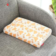 记忆棉儿童婴童枕(面包款儿童枕30*50cm) 黄色面包款