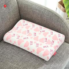 记忆棉儿童婴童枕(面包款儿童枕30*50cm) 粉色面包款