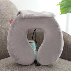 收纳款记忆棉u型枕(30*28*12/10cm) 浅灰色