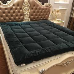 星尚 超柔绒立体面包格软床垫 1.51.8m可定制尺寸 1.5m(5英尺)床 墨绿