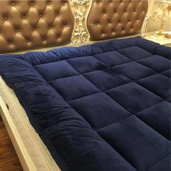 星尚 超柔绒立体面包格软床垫 1.51.8m可定制尺寸 1.5m(5英尺)床 宝蓝