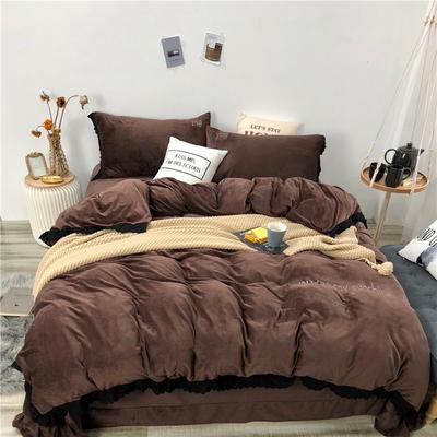 2018新款华肤绒漫享系列四件套 1.5m(5英尺)床 漫享-咖