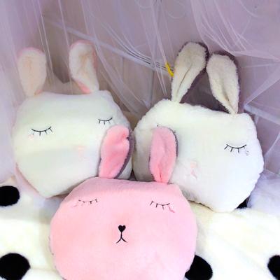 2019新款加厚兔兔绒绣花抱枕 45*35cm 白色