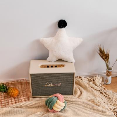 2019新款兔绒抱枕 43*43cm 五角星 五角星 白色
