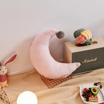 2019新款兔绒抱枕 30*15cm 月亮 月亮 粉色