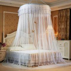 圆顶吊顶蚊帐(公主梦圆顶) 上圆直径1.2米 白色